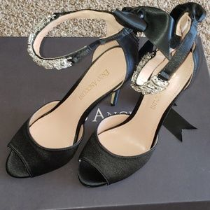 Nordia Shoes - 'Nordia' Satin Peep-Toe Sandal